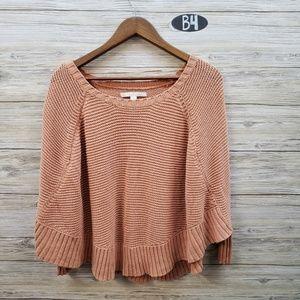 Lauren Conrad Peach Poncho Sweater